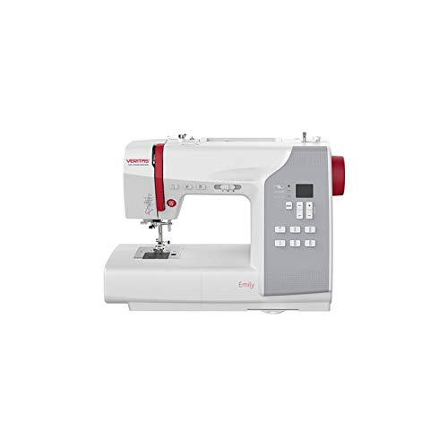 Máquina de coser Veritas Emily, color blanco y rojo