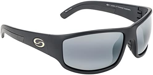 Strike King S11 Optics Caddo Polarized Sunglasses with Matte Black Frames and Gray Lenses product image