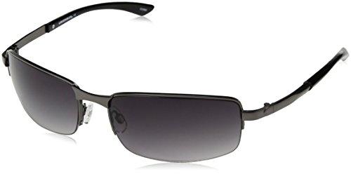 UNIONBAY U930 Rectangular Sunglasses, Matte Gunmetal, 64 mm