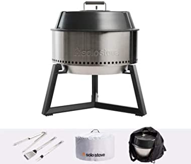Solo Stove Modern Grill Ultimate Bundle Heavy Duty Portable Charcoal Grill for Outdoors Great BBQ Smoker Grill Includes Grill