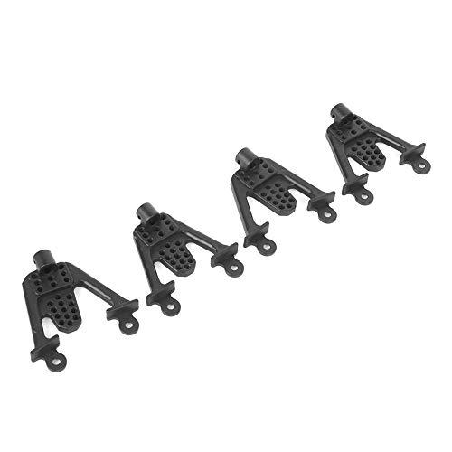 Acessório de multi-furos de alta resistência com suporte de amortecedor RC, suporte de amortecedor RC Amortecedor de choque de carro RC, carro de esteira RC para carro RC 1/10(black)