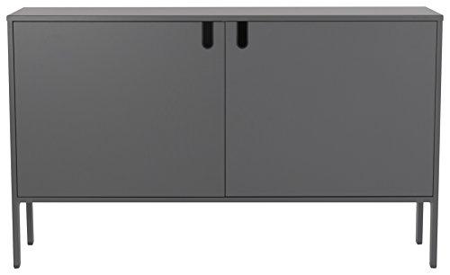 TENZO 8554-014 UNO Designer Schrank 2 Türen - Breit, MDF/Spanplatte, grau, 148 x 40 x 89 cm