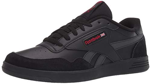 Reebok Men's Club MEMT Sneaker, Black/Black/Excellent Red, 3...