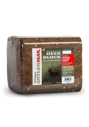 Purina AntlerMax | Water-Resistant Deer Feed Block | Diet-Enrichment for Antler Growth | 33 Pound (33 lb.) Block
