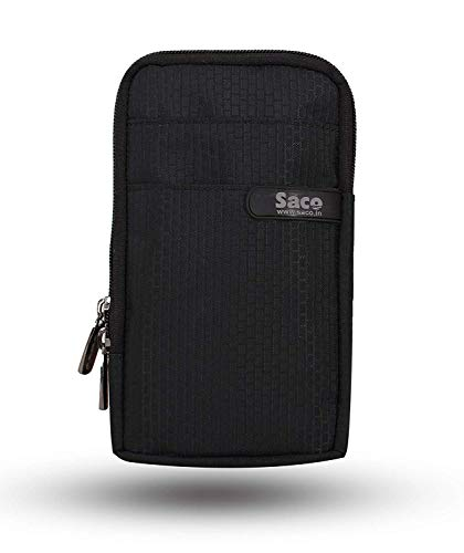 Saco Unisex Multipurpose Holster Travel Bag Vertical Pouch with Belt Loop and Shoulder Rope is Compatible with Sony MP-CD1 Compact Pocket Size Mobile Projector - (Black)
