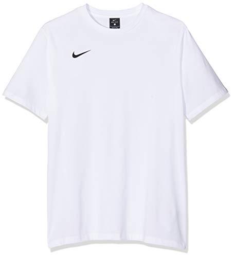 NIKE M tee TM Club19 SS Camiseta de Manga Corta, Hombre, White/White/White/Black, S