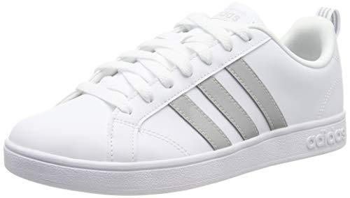 adidas Vs Advantage Scarpe da Tennis Donna, Bianco (Ftwr White/Ftwr White/Grey Two F17 Ftwr White/Ftwr White/Grey Two F17), 44 EU