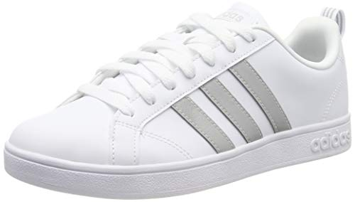 adidas Vs Advantage Zapatillas de Tenis Mujer, Blanco (Ftwr White/Ftwr White/Grey Two F17 Ftwr White/Ftwr White/Grey Two F17), 44 EU