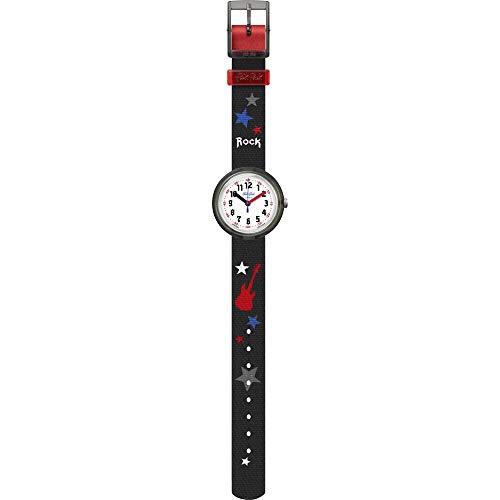 Flik Flak Jungen Analog Quarz Uhr mit Textil Armband FPNP051