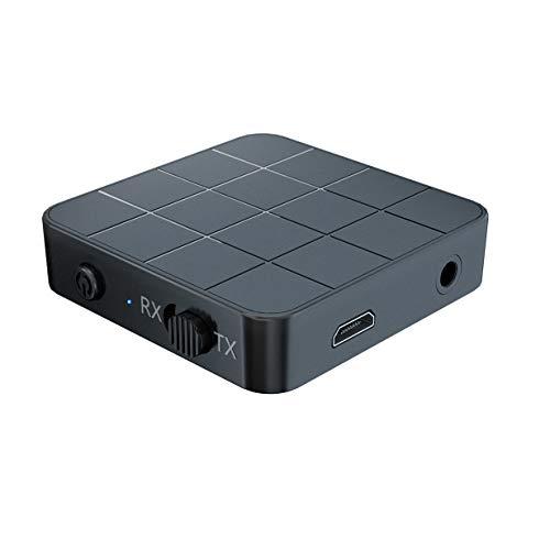 Bobin 5.0 Transmisor Receptor de Audio 2 en 1 RCA 3.5MM 3.5 AUX Enchufe USB MúSica EstéReo Adaptadores InaláMbricos para TV de Coche MP3 PC