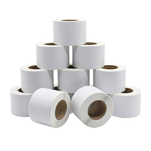 12Rolls 2In x 1.2In Adhesive Direct Thermal Labels, UPC Address Barcode FBA Labels, 800Pcs Per Roll, Compatible with Rollo & Zebra Desktop Printers, BOMEI PACK