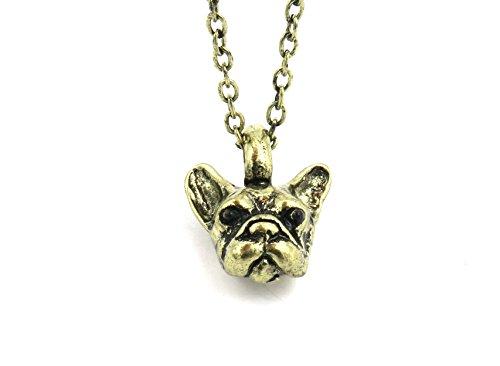 schmuck-stadt Bulldoggen Kette bronzefarben Hund Hundekette