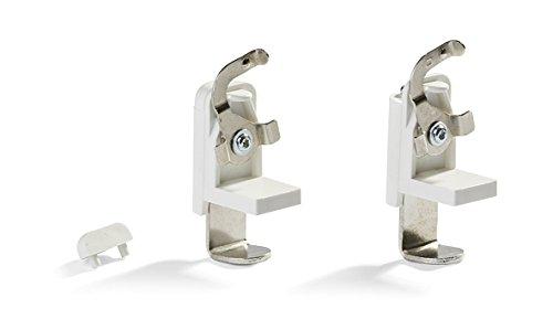 Ventanara Klemmträger für Alu Jalousien ohne Bohren Weiß 10er Set