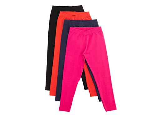 Calça Legging Infantil Menina Cotton Liso Kit 5 Peças 1 A 14 Desenho do tecido:Liso/Sortido;Tamanho:10