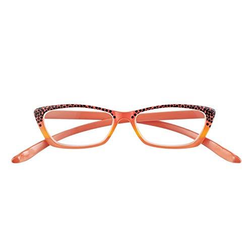 Gafas de vista premontadas 75184 con potencia +2.00 de color Papaya
