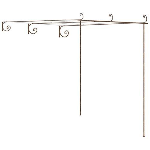 Tidyard Arco da Giardino Decorazioni per Il Giardino Arco Rose Piante Rampicanti, Metallo,3x3x2,5 m/4x3x2,5 m/ 6x3x2,5 m,Marrone Anticato