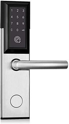 SHKUU Cerradura Puerta electrónica Inteligente, hogar Inteligente Seguridad antirrobo Sin Llave Bluetooth Huella Digital Pantalla táctil Código Digital Contraseña del Teclado