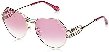 Roberto Cavalli GIGLIO Mirrored Violet Geometric Ladies Sunglasses