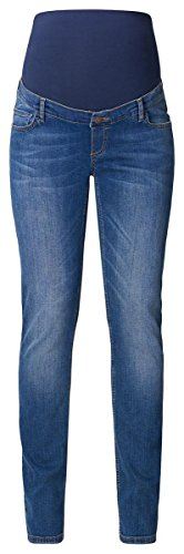 ESPRIT Maternity Damen Umstands Jeans Pants Denim Straight A8D009 (36 (Herstellergröße: 36/34), Blau (Darkwash 910))