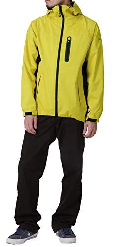 namelessage(ネームレスエイジ)レインウェア上下セットメンズレディースストレッチ防風撥水NASR-100(NAMJ-2600)イエローXSレインスーツレインコートカッパゴルフアウトドア釣り男性用女性用黄色