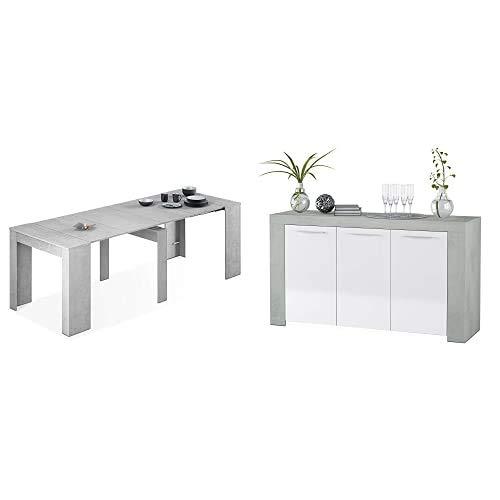 Habitdesign Mesa de Comedor Consola + Aparador Comedor Buffet