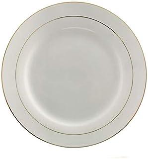 Topkapi Katarina Lot de 6 assiettes rondes en porcelaine avec bord doré Ø 24 cm