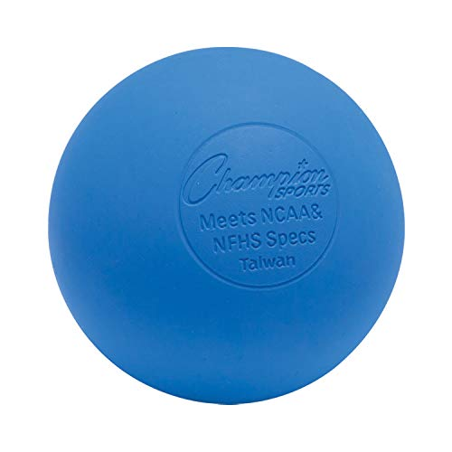 Champion Sports Colored Lacrosse Balls: Blue Official Size Sporting Goods Equipment for Professional, College & Grade School Games, Practices & Recreation - NCAA, NFHS and SEI Certified - 1 Pack