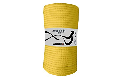 Colcha 220 x 240 cm LÉO Amarilla