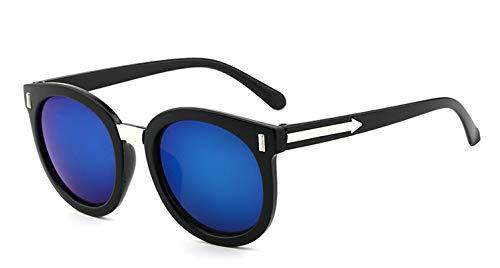 Aienid Sonnenbrille Transparent Resin Runden Schwarz Blau Sonnenbrille Für Frauen
