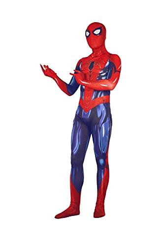 HAOWUTX Muskel-Spiderman-Kostüm Cosplay einteilig Leotard Cosplay 3D Digitaldruck Erwachsene Kinder Superheld Avengers Halloween Carnival Makeup Party Film Requisiten (Größe : 160-165 cm)