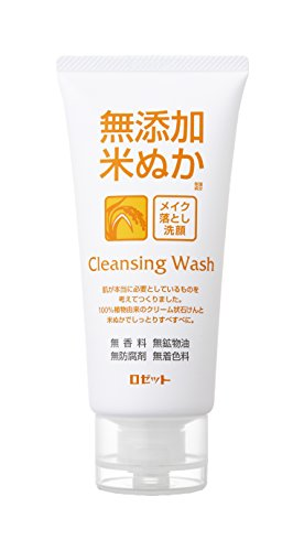 ROSETTE | Cleansing Wash | Additive Free Rice Bran Facial Washing Foam 120g (japan import)