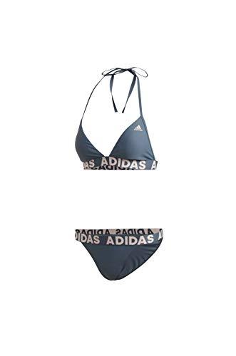 adidas Damen Neckholder Biki Bikini, Blau, 40