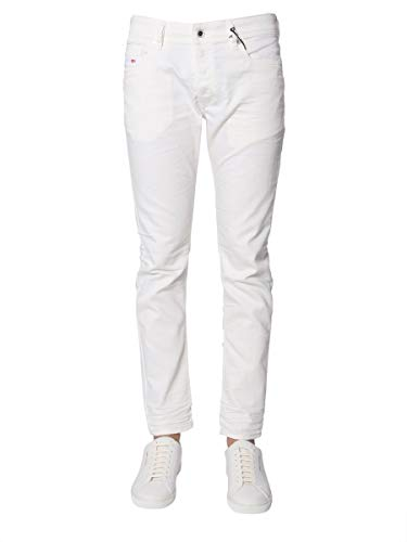 Luxury Fashion | Diesel Heren 00S7VF084CY100 Wit Elasthaan Jeans | Seizoen Outlet