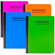 Jot Neon Poly Cover Wide-ruled Composition Notebooks ( 4 Pack) Assorted Colors