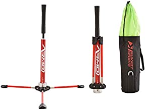 Rukket Baseball/Softball Batting Tee Pro | Portable & Heavy Duty Practice Tees for Indoor & Outdoor Training | Professional & Adjustable Equipment with Carry Bag (Pro)