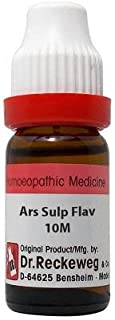 Dr. Reckeweg Arsenic Sulphuratum Flavum 10M CH (11ml)- Pack Of 1 Bottle & (Free St. George's COF MIX - An Ideal Remedy for...
