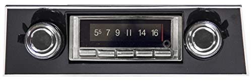 Custom Autosound Bluetooth Stereo compatible with 1967-1968 Chevrolet Camaro BLACK Dash, USA-740 300 watt AM FM Car Stereo/Radio with built-in...