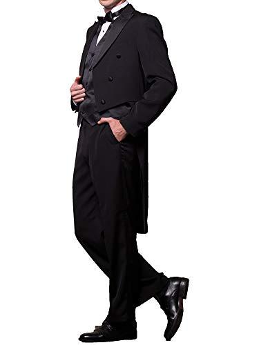 Broadway Tuxmakers Herren Tuxedo-Jacke mit Schwanz Tailcoat Schwarz -  Schwarz -  48 Regulär