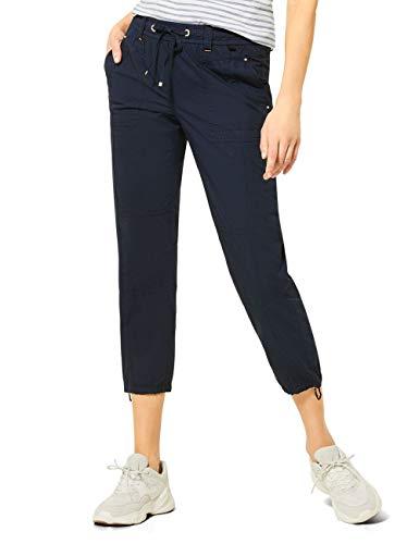 Cecil Damen 373140 Jessy Papertouch Hose, deep Blue, W33/L26