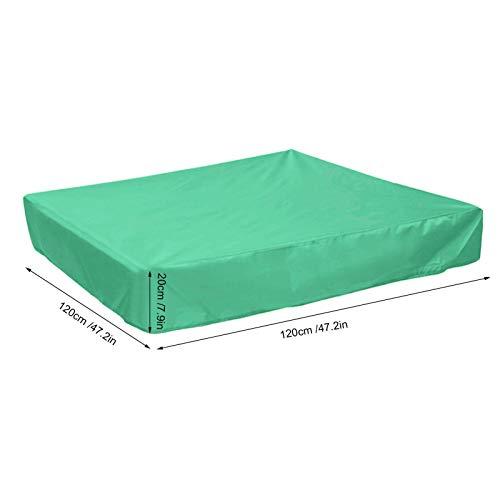 Cubierta de Piscina, Cubierta Impermeable Cubierta de Caja de Arena Cuadrada Resistente al desgarro Suministros de(Green, 120 * 120 * 20cm)