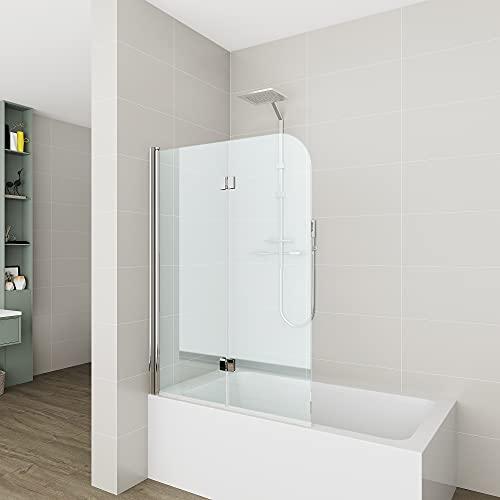 Badewannen Duschabtrennung Sicherheitsglas hell,Duschwand Duschabtrennung Nano Glas (110x140cm[BxH])