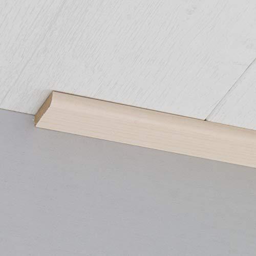 Abdeckleiste Abschlussleiste Sockelleiste Rundprofil aus MDF in Esche select 2600 x 6 x 25 mm