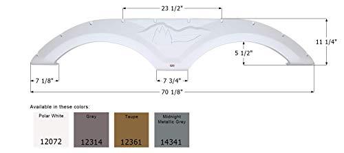 ICON 12072 Tandem Axle Fender Skirt FS2072 for Forest River Wildcat - Polar White