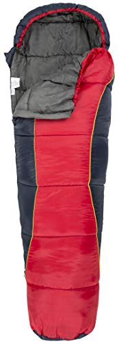 Trespass Unisex, Jugendliche BUNKA 3-Jahreszeiten-Schlafsack mit Hohlfaserfüllung, 170 x 65 x 45 cm, rot, 170 cm x 65 cm x 45 cm