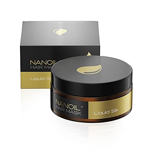 Nanoil Haar maske mit flüssiger Seide – Haar maske, 300 ml, Regeneration, Geschmeidigkeit, Gesundheit und Glanz, Regeneration und mehr Elastizität für die Haare