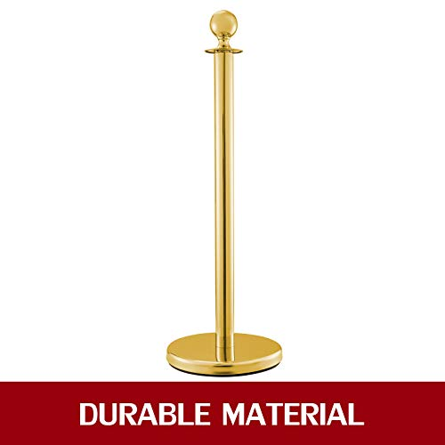 Black Velvet Ropes Barriers for Party Supplies Crowd Control Barriers Queue Line Rope 3PCS Gold Stainless Steel Stanchion Posts Queue