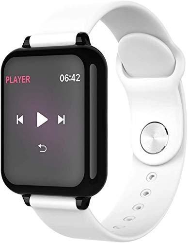 Reloj inteligente de 1 3 pulgadas, pantalla de seguimiento de actividad física, podómetro, pulsera de mensaje, recordatorio inteligente, IP67, impermeable, 180 mAh-blanco
