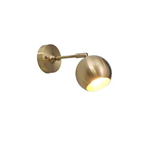 ZJN-JN Las luces de pared E27 llevó las luces de pared, lámpara de pared de bronce 7W for Spotlight-A Espejo de baño dormitorio Pasillo