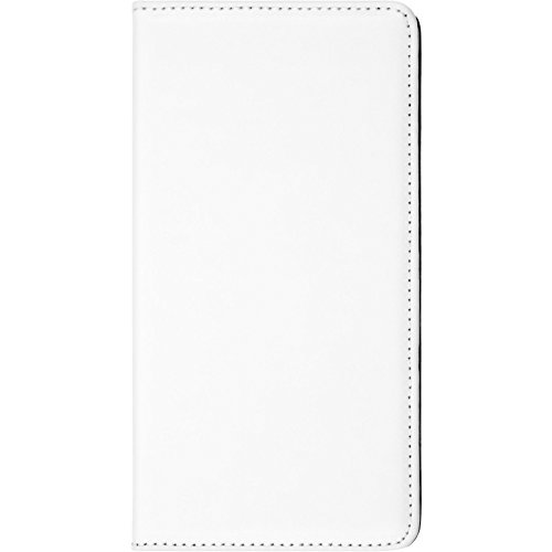 PhoneNatic Kunst-Lederhülle kompatibel mit ZTE Blade L3 - Book-Hülle weiß Cover