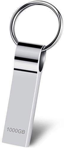 RUICHENXI USB Stick 1TB Speicherstick Metall Wasserdicht USB-Flash-Laufwerk Robust USB Memory Stick mit Schlüsselring (1000gb)